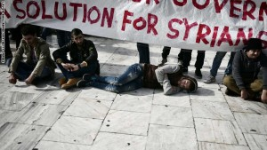 GREECE-SYRIA-CONFLICT-REFUGEES-PROTEST
