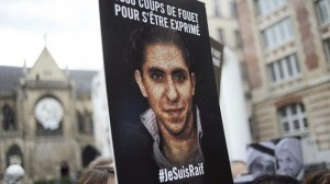 "People demonstrate in support of Raif Badawi, who was sentenced to 1,000 lashes for ""insulting Islam, on May 7, 2015 in Paris. The case of Badawi, 31, has sparked worldwide outrage and criticism from the United Nations, United States, the European Union, Canada and others.  Badawi co-founded with Suad al-Shammari the Saudi Liberal Network Internet discussion group. He was arrested in June 2012 under cybercrime provisions, and a judge ordered the website shut after it criticised Saudi Arabia's notorious religious police. Badawi was initially sentenced to seven years in jail and 600 lashes for insulting Islam and setting up the liberal network. AFP PHOTO / STEPHANE DE SAKUTIN"