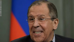 Russian Foreign Minister Sergei Lavrov smiles as he speaks during a joint press conference with his Iraqi counterpart following their meeting in Moscow on March 19, 2015. AFP PHOTO / YURI KADOBNOV        (Photo credit should read YURI KADOBNOV/AFP/Getty Images)