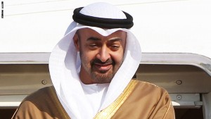 Sheikh Mohammed bin Zayed Al Nahyan, Crown Prince of Abu Dhabi and Deputy Supreme Commander of the UAE Armed Forces, arrives at Seoul airport in Seongnam, on the outskirts of Seoul on March 26, 2012, ahead of the 2012 Nuclear Security Summit. US President Barack Obama and dozens of other world leaders will begin a summit on curbing the threat of nuclear terrorism, but North Korea's atomic plans will be in focus on the sidelines. The two-day meeting in South Korea is a follow-up to an inaugural summit in Washington in 2010 hosted by Obama, which kick-started efforts to lock up fissile material around the globe that could make thousands of bombs.    AFP PHOTO/YONHAP/ POOL REPUBLIC OF KOREA OUT (Photo credit should read YONHAP/AFP/Getty Images)