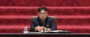 North Korea's Supreme People's Assembly is chaired by leader Kim Jong Un, convened Wednesday June 29, 2016, in Pyongyang, North Korea.  Kim Jong Un vowed to continue developing nuclear weapons while also strengthening the country's economy. (NKO via AP Photo)