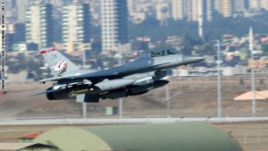 ADANA, TURKEY - NOVEMBER 17:  A U.S. F-16CG fighter aircraft takes off from Incirlik Air Base November 17, 2002 in Adana, Turkey. The plane is assigned to Combined Task Force in support of Operation Nothern Watch (ONW). ONW has been enforcing the no-fly zone over northern Iraq since 1997.  (Photo by S. Sgt. Jason W. Gamble/U.S. Air Force/Getty Images)